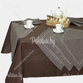 Льняной столовый набор Шоколад арт.16с397-0-551