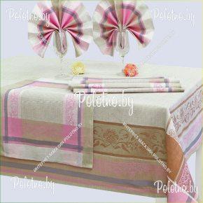 Льняной комплект столовый Традиция с салфетками арт. 16с412