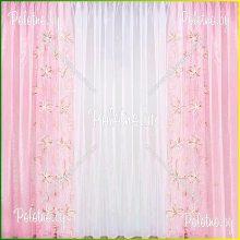 Тюль Ромашка — 2.5 розовая