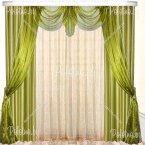 Готовые шторы Грация оливкого цвета