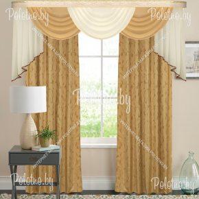 Комплект готовых штор в спальню и гостиную Версаль