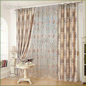 Комплект готовых штор в спальню и гостиную Франсуа — 2.5 винтаж