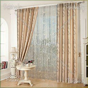Комплект готовых штор в спальню и гостиную Франсуа — 2.5 модерн