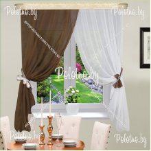 Комплект штор Дарья коричневый