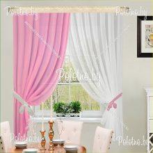 Комплект штор Дарья розовый