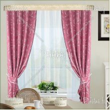 Кухонные шторы Нелли розовый