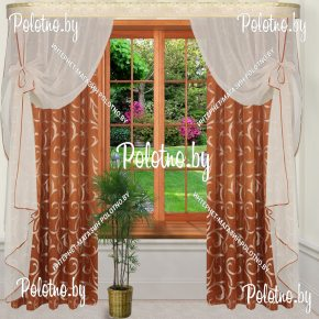 Комплект готовых штор в спальню и гостиную Юлиана  — 2.5