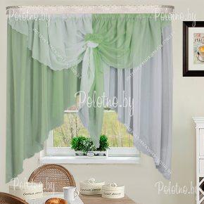 Кухонные шторы Жар-птица салатового цвета