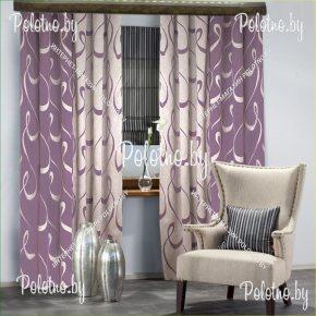 Готовые шторы в спальню сиреневого цвета