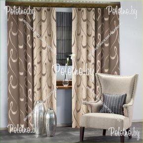 Готовые шторы в спальню и гостиную цвета какао