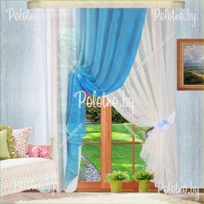 Комплект готовых штор в спальню и гостиную Габриэлла №2 — 2.5 голубой