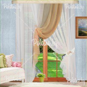Комплект готовых штор в спальню и гостиную Габриэлла №2 — 2.5 песочный