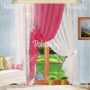 Комплект готовых штор в спальню и гостиную Габриэлла №2 — 2.5 розовый