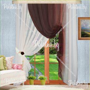 Комплект готовых штор в спальню и гостиную Габриэлла №2 — 2.5 венге