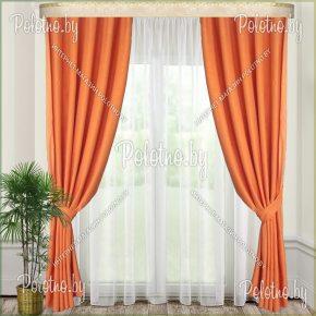 Готовые шторы на тесьме в спальню и гостиную Земфира