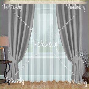 Готовые шторы для спальни и гостиной серого цвета