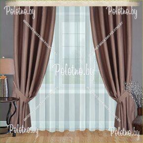 Комплект готовых штор в спальню и гостиную Земфира