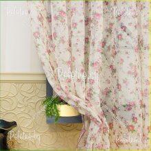 Тюль бледно-розовый цветок 2.5