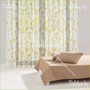 Гардина Осенний цветок из вуалевой ткани