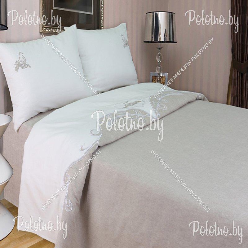 Льняное постельное белье с вышивкой 96