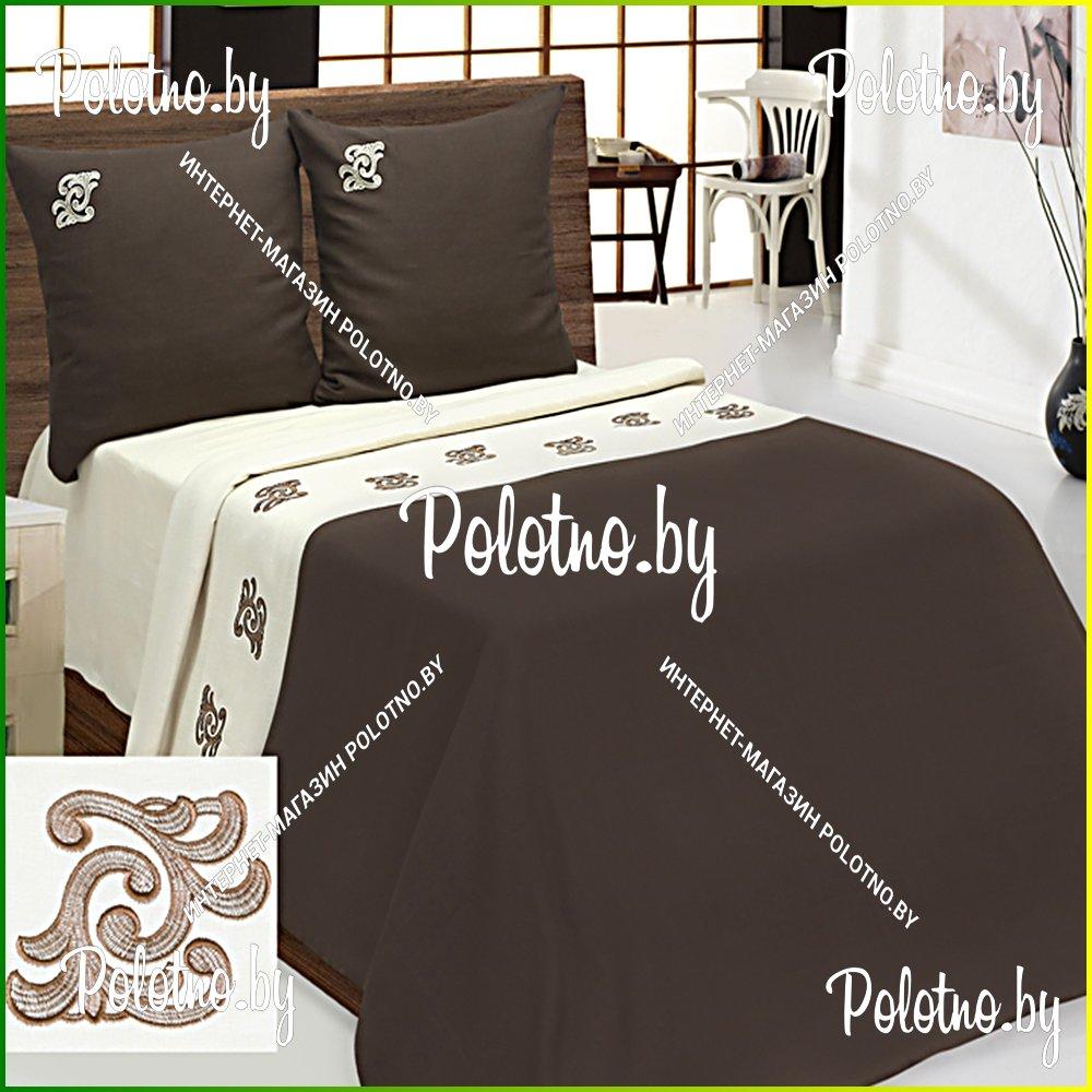 Льняное постельное белье с вышивкой 64