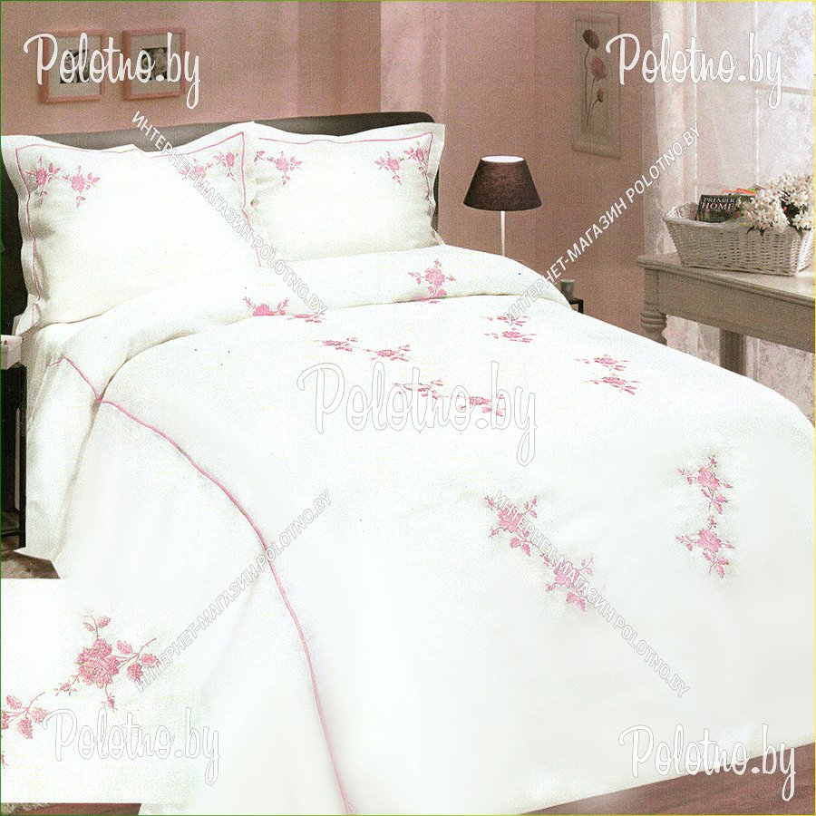 Льняное постельное белье с вышивкой 28